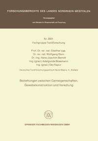 Cover Beziehungen zwischen Garneigenschaften, Gewebekonstruktion und Veredlung