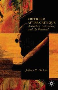 Cover Criticism after Critique