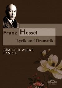 Cover Franz Hessel: Lyrik und Dramatik