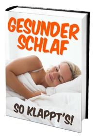 Cover Gesunder Schlaf – So klappt's