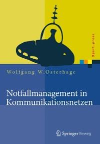 Cover Notfallmanagement in Kommunikationsnetzen
