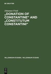 """Cover """"Donation of Constantine"""" and """"Constitutum Constantini"""""""
