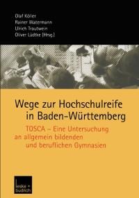 Cover Wege zur Hochschulreife in Baden-Wurttemberg