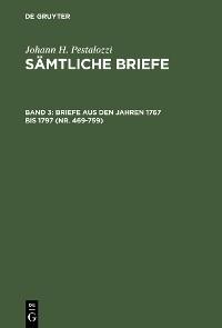 Cover Briefe aus den Jahren 1767 bis 1797 (Nr. 469-759)