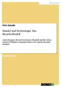 Cover Handel und Technologie. Das Ricardo-Modell