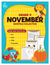 Cover November Monthly Collection, Grade 5