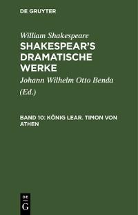 Cover König Lear. Timon von Athen