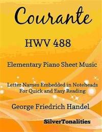 Cover Courante HWV 488 Elementary Piano Sheet Music