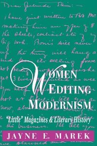 Cover Women Editing Modernism
