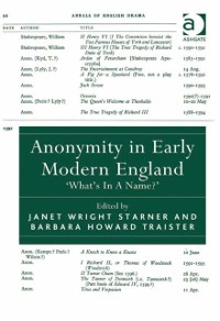 Cover Anonymity in Early Modern England