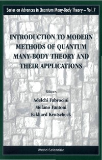 Cover Introduction To Modern Methods Of Quantum Many-body Theory And Their Applications