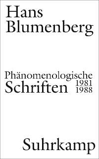 Cover Phänomenologische Schriften