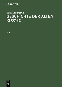 Cover Geschichte der Alten Kirche