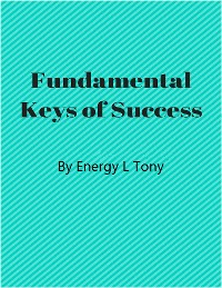 Cover Fundamental Keys of Success