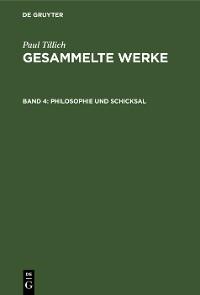 Cover Philosophie und Schicksal