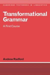 Cover Transformational Grammar