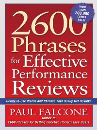 Cover 2600 Phrases for Effective Performance Reviews