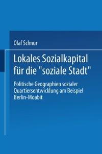 Cover Lokales Sozialkapital fur die soziale Stadt&quote;
