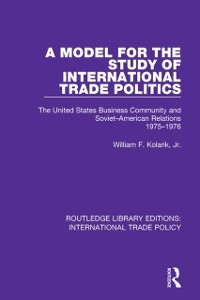 Cover Model for the Study of International Trade Politics