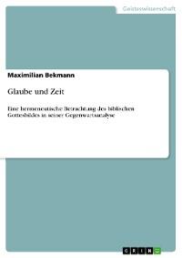 Cover Glaube und Zeit