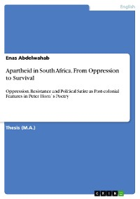 Cover Apartheid in South Africa. From Oppression to Survival