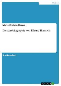 Cover Die Autobiographie von Eduard Hanslick
