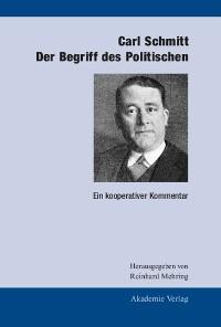 Cover Carl Schmitt: Der Begriff des Politischen