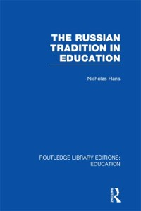 Cover Russian Tradition in Education