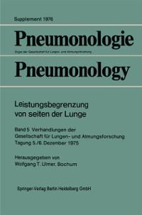 Cover Leistungsbegrenzung von seiten der Lunge