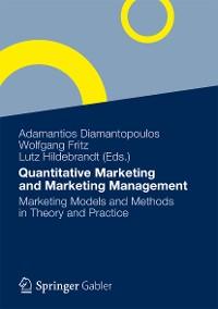Cover Quantitative Marketing and Marketing Management