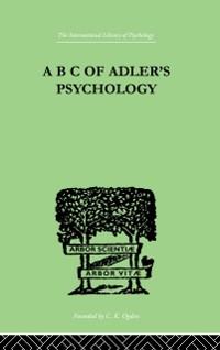 Cover B C Of Adler'S Psychology