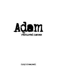 Cover Adam - Restored Names