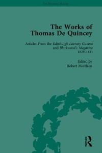 Cover Works of Thomas De Quincey, Part I Vol 7