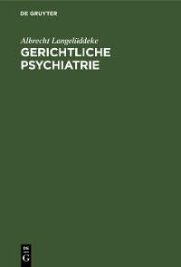 Cover Gerichtliche Psychiatrie