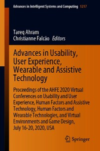 Cover Advances in Usability, User Experience, Wearable and Assistive Technology