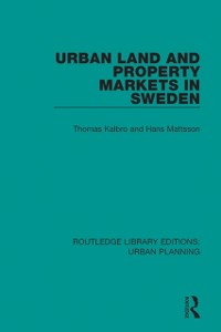 Cover Urban Land and Property Markets in Sweden