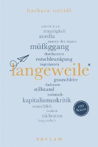 Cover Langeweile. 100 Seiten