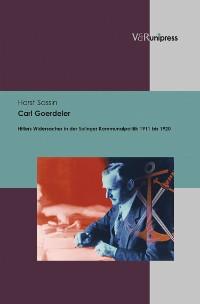 Cover Carl Goerdeler
