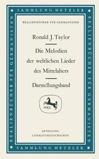 Cover Die Melodien der weltlichen Lieder des Mittelalters