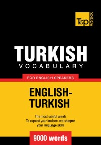 Cover Turkish Vocabulary for English Speakers: 9000 words