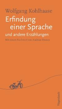 Cover Erfindung einer Sprache und andere Erzählungen