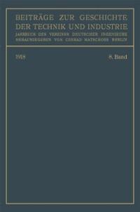 Cover Beitrage zur Geschichte der Technik und Industrie