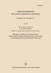 Cover Klarung der Verhaltnisse beim Bremsvorgang unter besonderer Berucksichtigung der Rattererscheinungen an vierachsigen Groraum-Straenbahn-Triebwagen