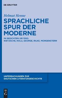 Cover Sprachliche Spur der Moderne