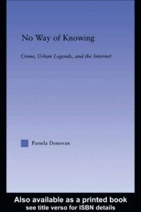Cover No Way of Knowing