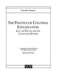 Cover The Politics of Colonial Exploitation