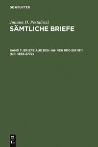 Cover Briefe aus den Jahren 1810 bis 1811 (Nr. 1853-2772)