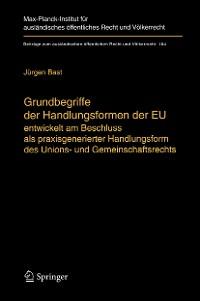 Cover Grundbegriffe der Handlungsformen der EU