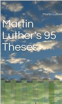 Cover Martin Luther's 95 Theses