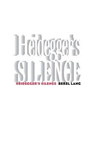 Cover Heidegger's Silence